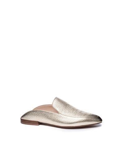 Kristin Cavallari Women's Capri Lea Pointed Toe Flat in Gold