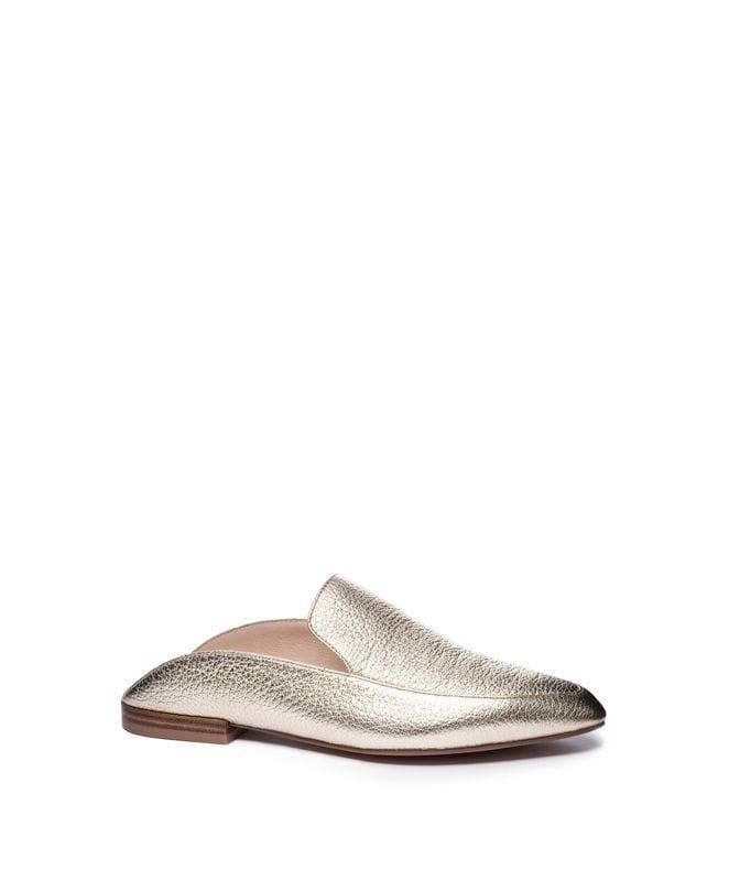 Capri Women's Lea Pointed Toe Flat in Gold