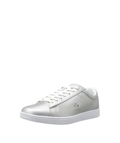 Lacoste Women's Carnaby Evo Fashion Sneaker in Grey