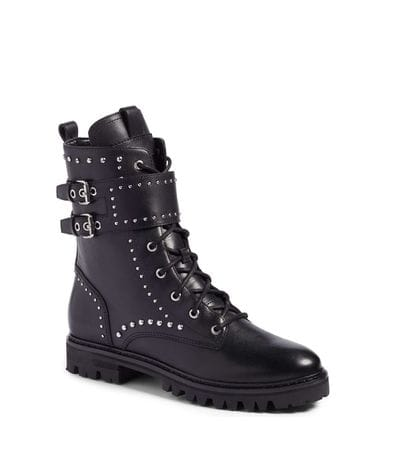 Marc Fisher LTD Jostte Belted Moto Boot in Black