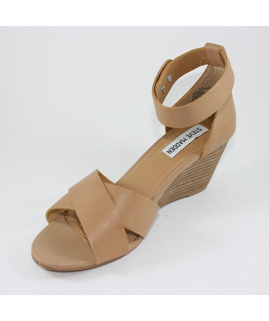 Steve Madden Women S Wedge Sandal In Bone Leather