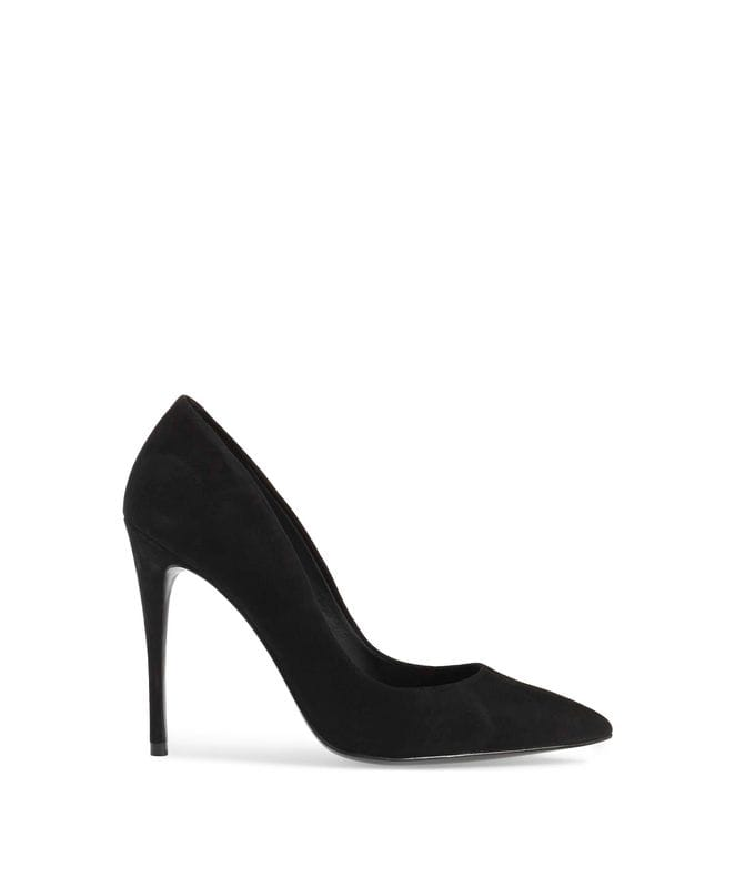 Steve Madden Daisie Women's Dress Pump in Black Suede