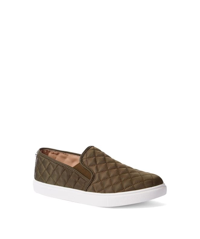 Steve Madden Women's Ecentrcq Slip-On Sneaker in Olive