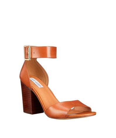 Steve Madden Womens Estoria Dress Sandal in Cognac