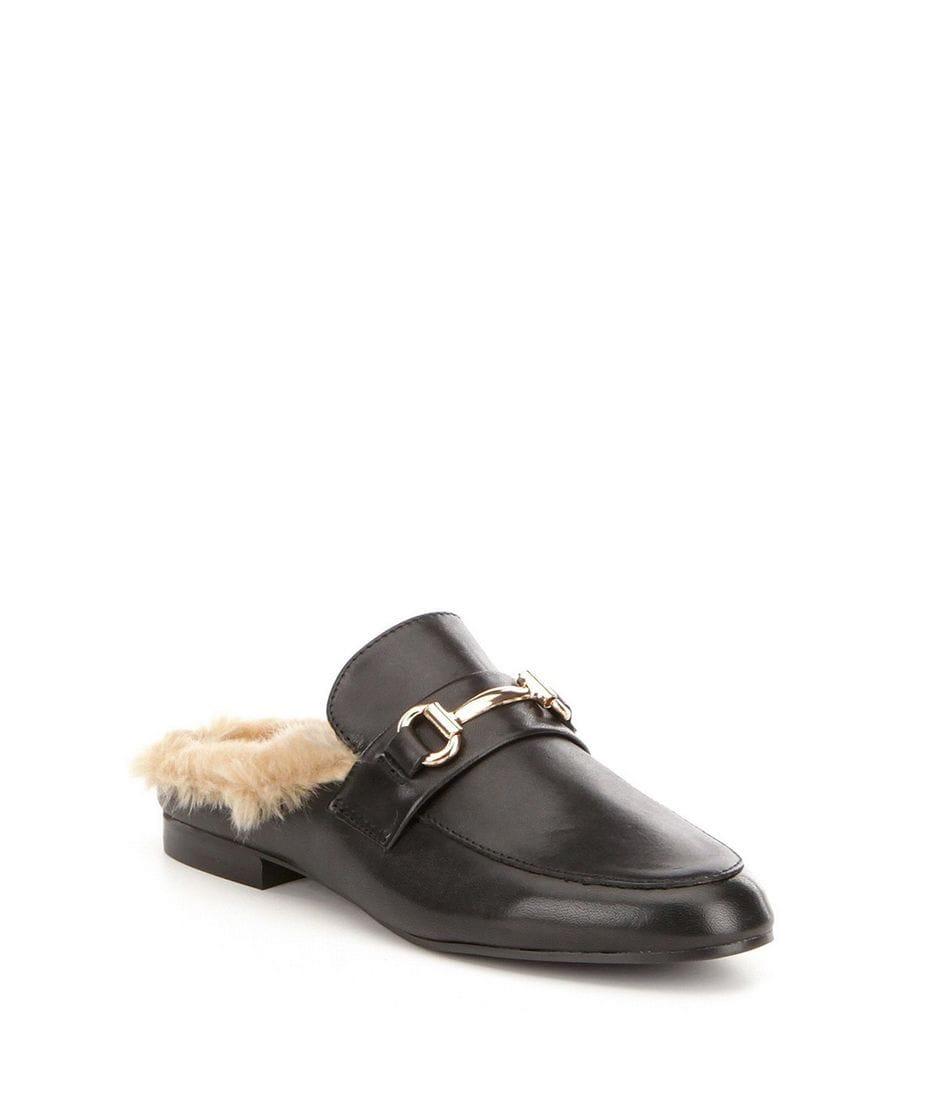 a7692ce674f Steve Madden Jill Women s Slip-on Loafer with Faux Fur in Black