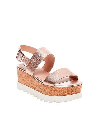 Steve Madden Krista Women's Wedge Sandal in Rose Gold