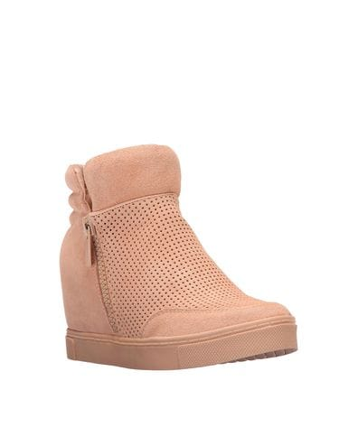 Steve Madden Womens Linqsp Fashion Sneaker in Sand Suede