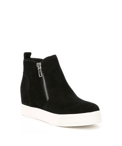 Steve Madden Women's Wedgie Sneaker in Black Suede