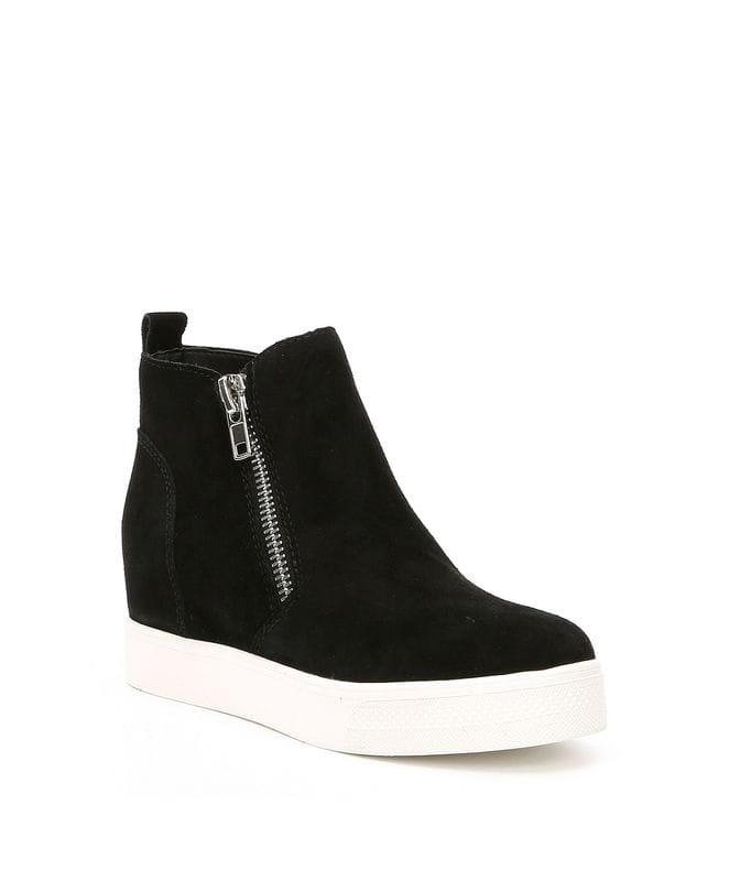 Steve Madden Women's Wedgie Sneaker in Black Suede
