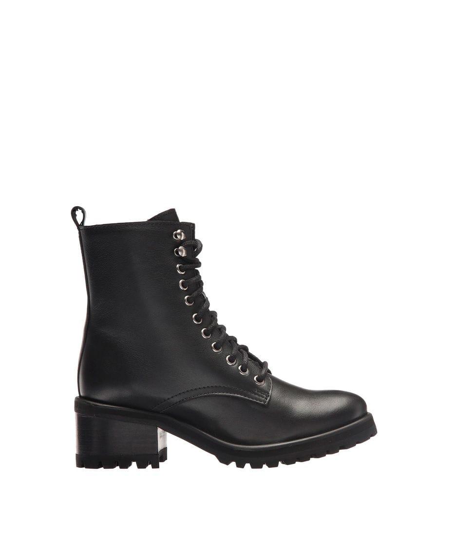 9d07b4c00a3 Steve Madden Women s Geneva Combat Boots in Black Leather ...