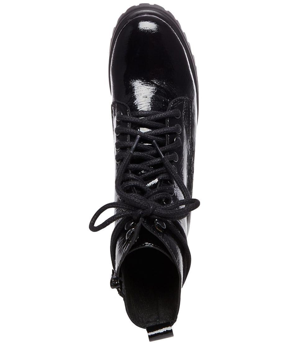 789e46738d1 ... Steve Madden Women s Geneva Combat Boots in Black Patent ...
