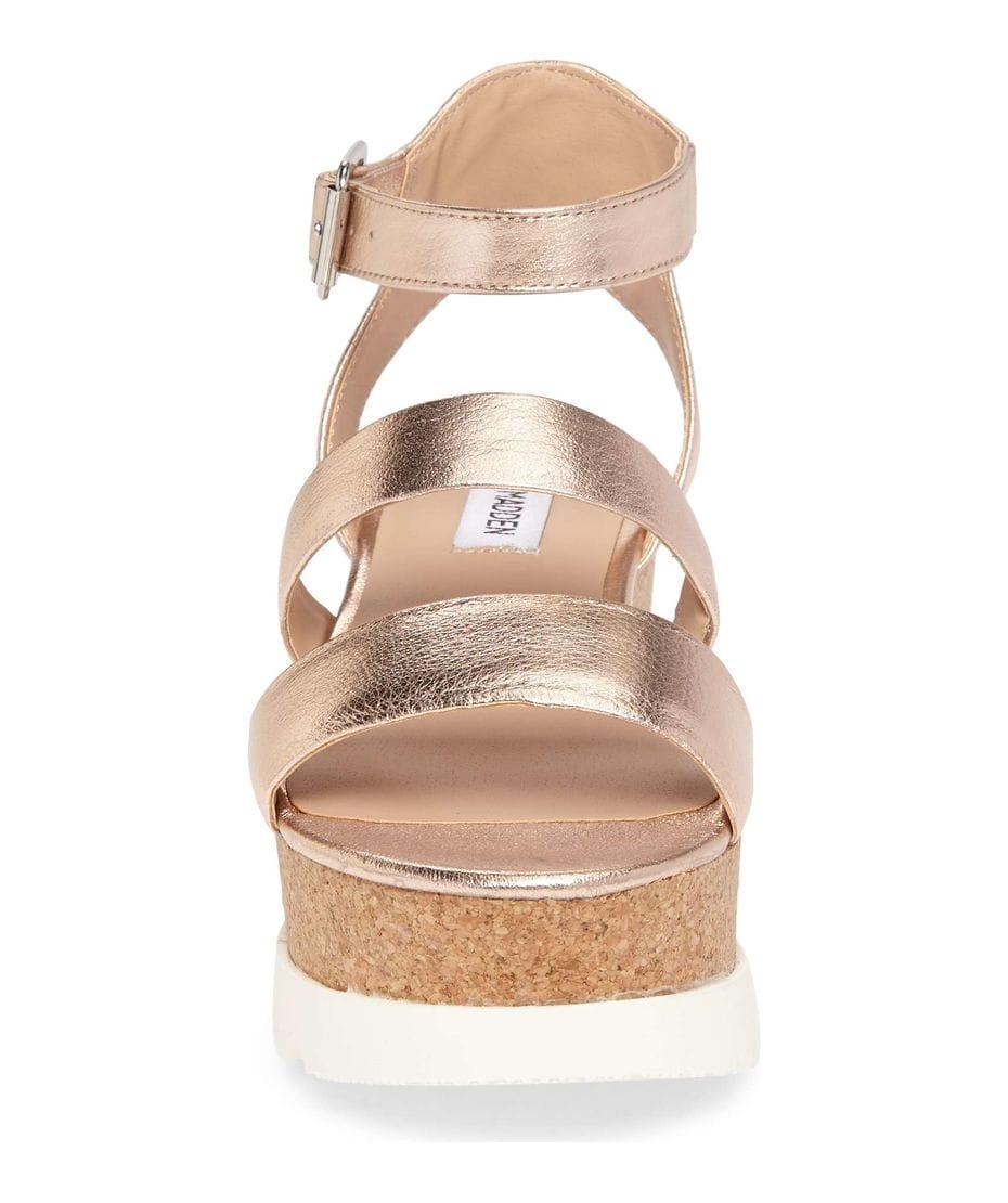 0af9b355445c ... Steve Madden Kirsten Women s Wedge Sandal in Rose Leather ...