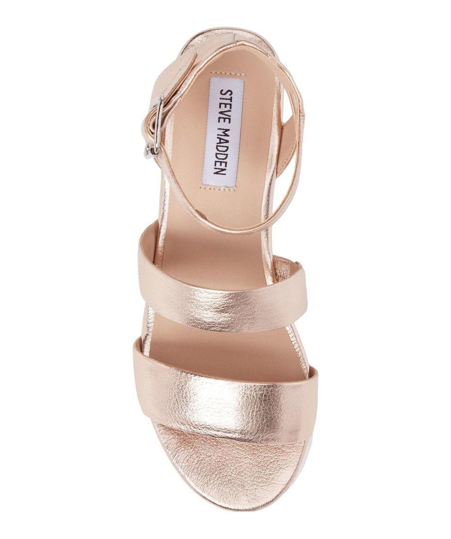 98efb2bdcbd6 ... Steve Madden Kirsten Women s Wedge Sandal in Rose Leather