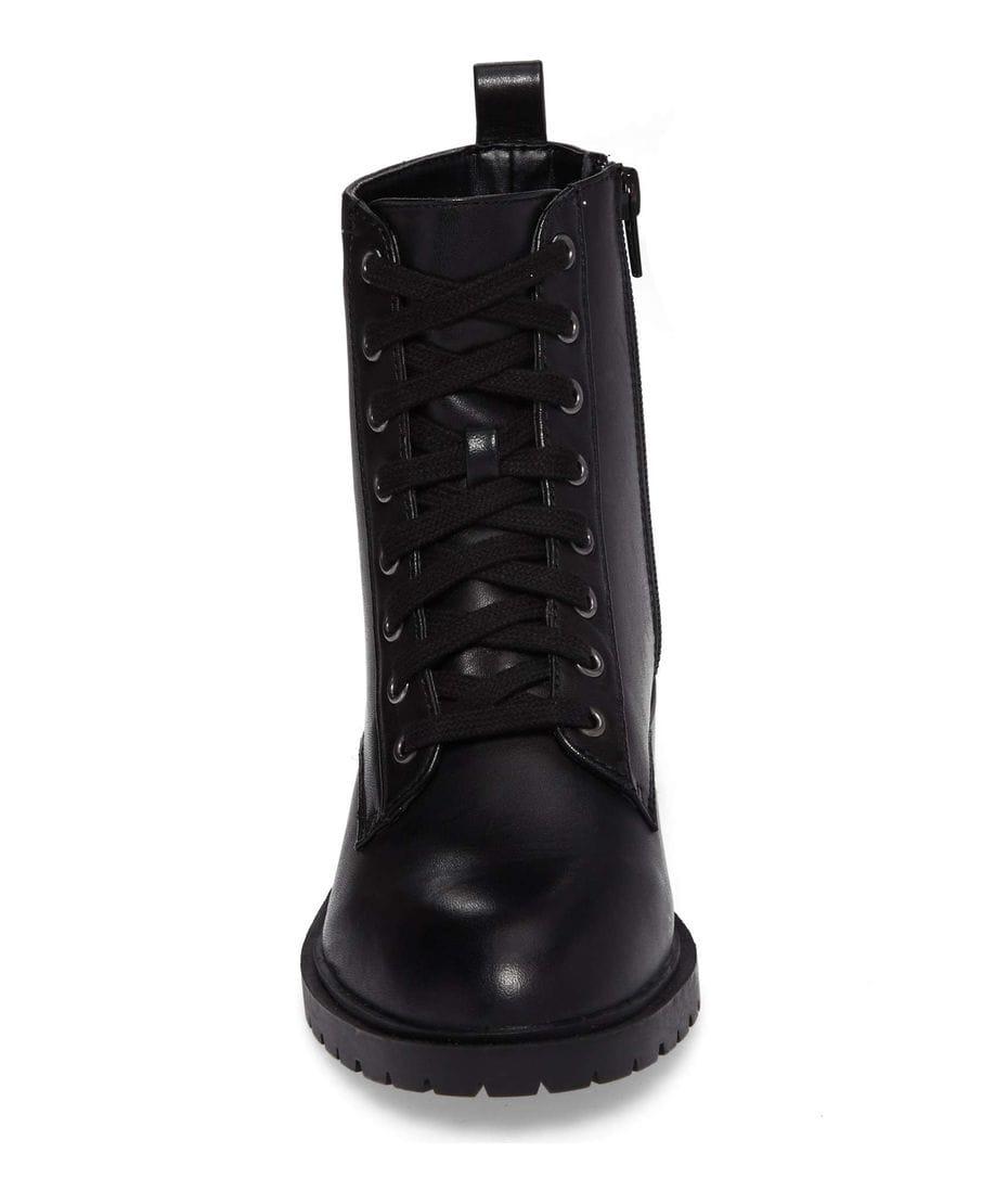 3402604558c Steve Madden Women s Officer Combat Boot in Black Leather