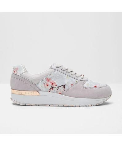 Ted Baker Women's Esmay Embossed Suede Sneakers in Oriental Blossom