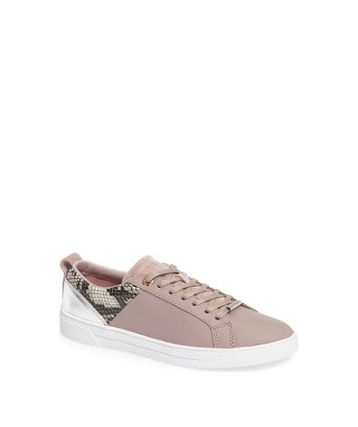 Ted Baker Women's Kulei Metallic Trim Sneakers in Mink