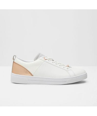 Ted Baker Women's Kulei Metallic Trim Sneakers in White/Rose Gold