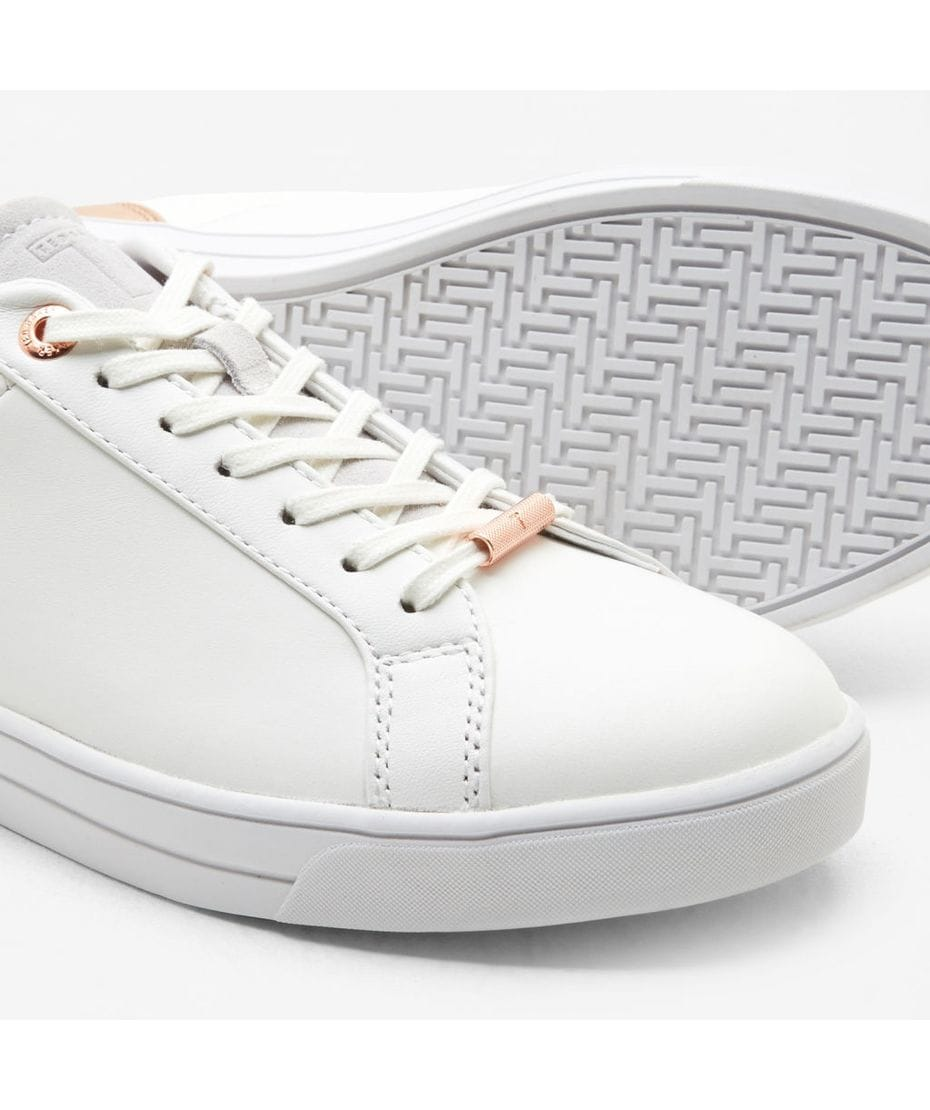 4d032a1aec1 ... Ted Baker Women s Kulei Metallic Trim Sneakers in White Rose Gold ...