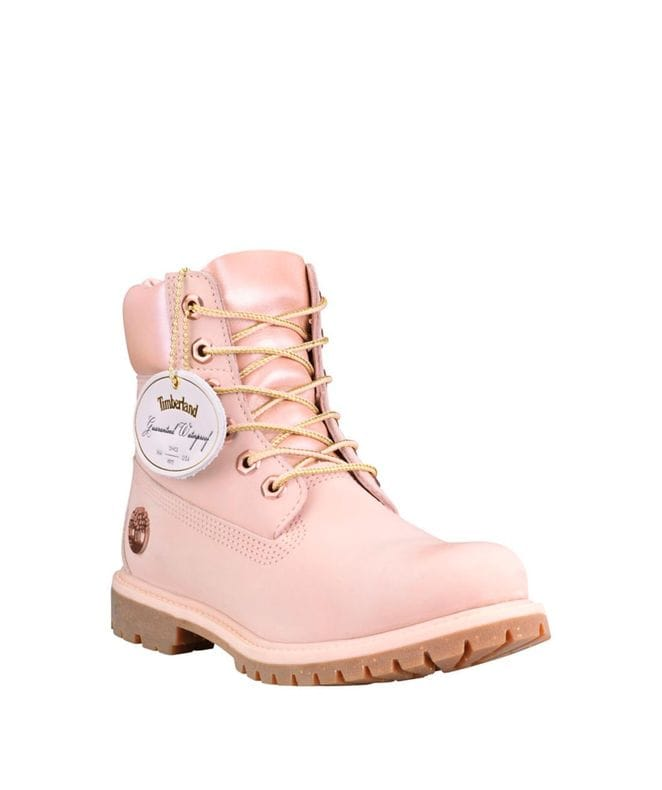 Timberland Women's 6-in Premium Waterproof Champagne Boots in Light Pink