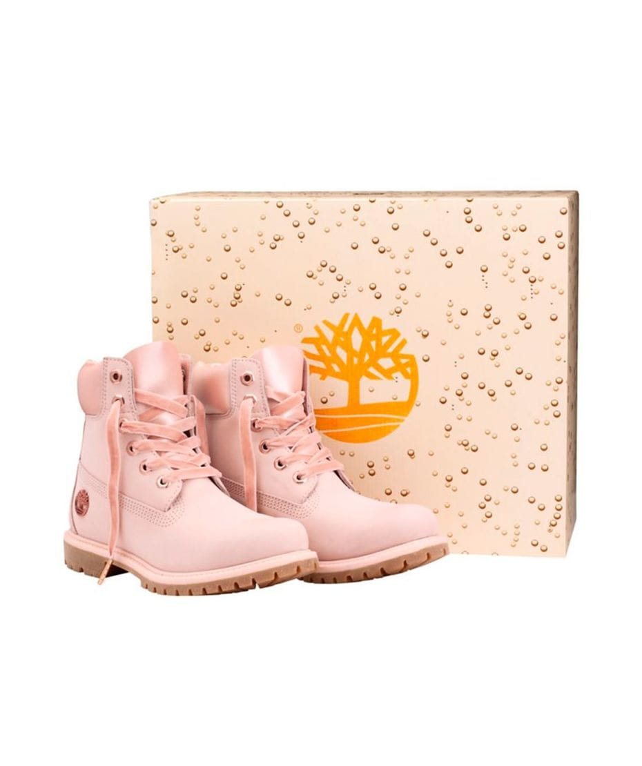 info for d3b26 b98ee ... Timberland Women s 6-in Premium Waterproof Champagne Boot in Pink Nubuck