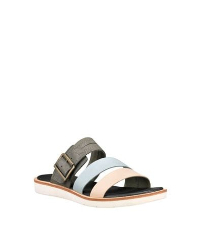 Timberland Women's Adley Shore Slide Sandals in Grey Multi
