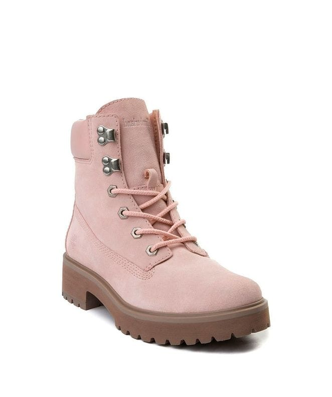Timberland Women's Carnaby Cool 6-inc Boots in Light Pink Suede