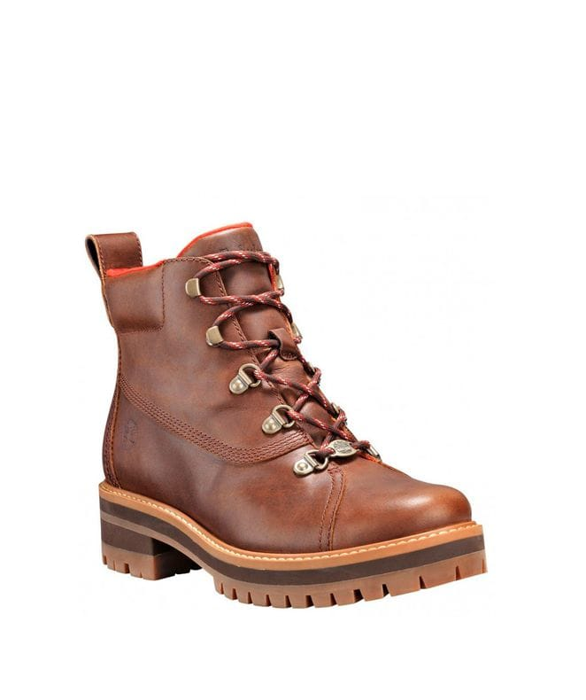 Timberland Women's Courmayeur Valley Hiking Boots in Medium Brown