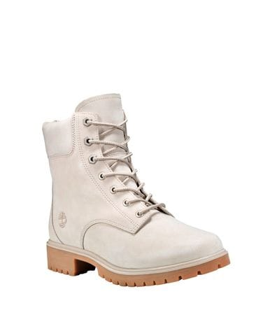 Timberland Women's Jayne 6-inc Waterproof Boots in Off White Nubuck