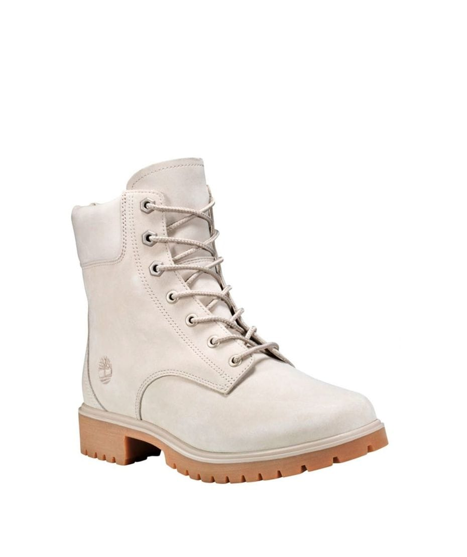 70ed502ef3073 Timberland Women's Jayne 6-inc Waterproof Boots in Off White Nubuck ...