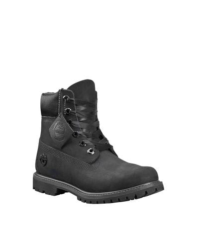 Timberland Women's 6-inch Premium Waterproof Boots in Black Nubuck