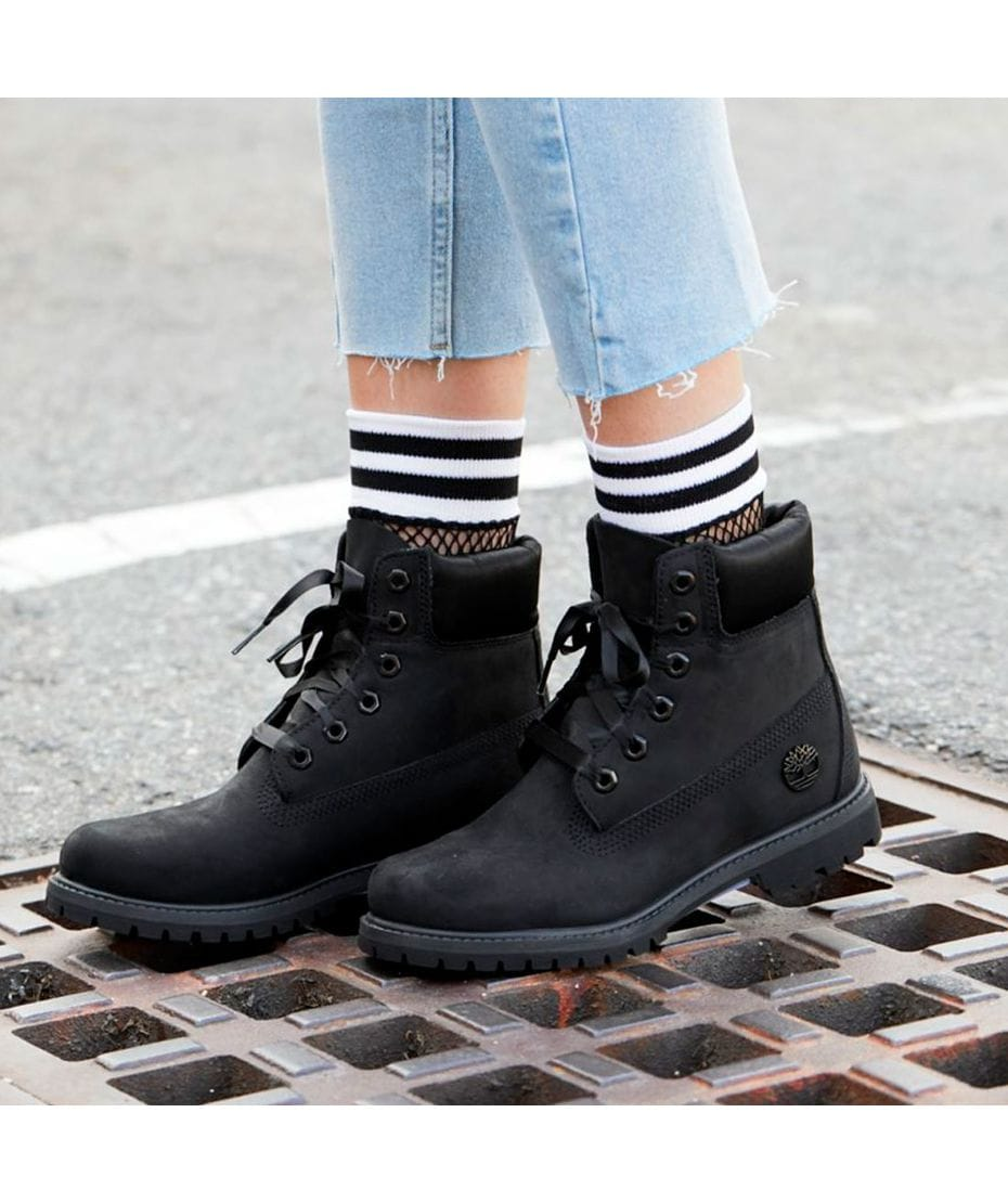 Timberland Women s 6 inch Premium Waterproof Boots in Black Nubuck