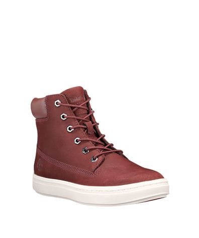 Timberland Women's Londyn 6-inch Boots in Burgundy Nubuck