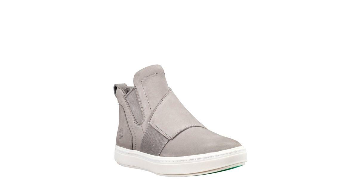 Londyn Pull-On Chelsea Sneakers in Grey