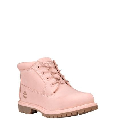 Timberland Women's Nellie Chukka Waterproof Boot in Pink Nubuck