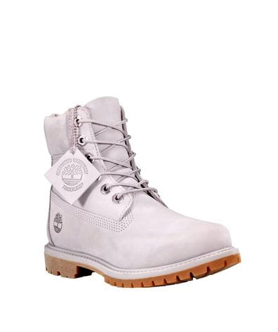 Timberland Women's 6-in Premium Waterproof Boot in Light Grey