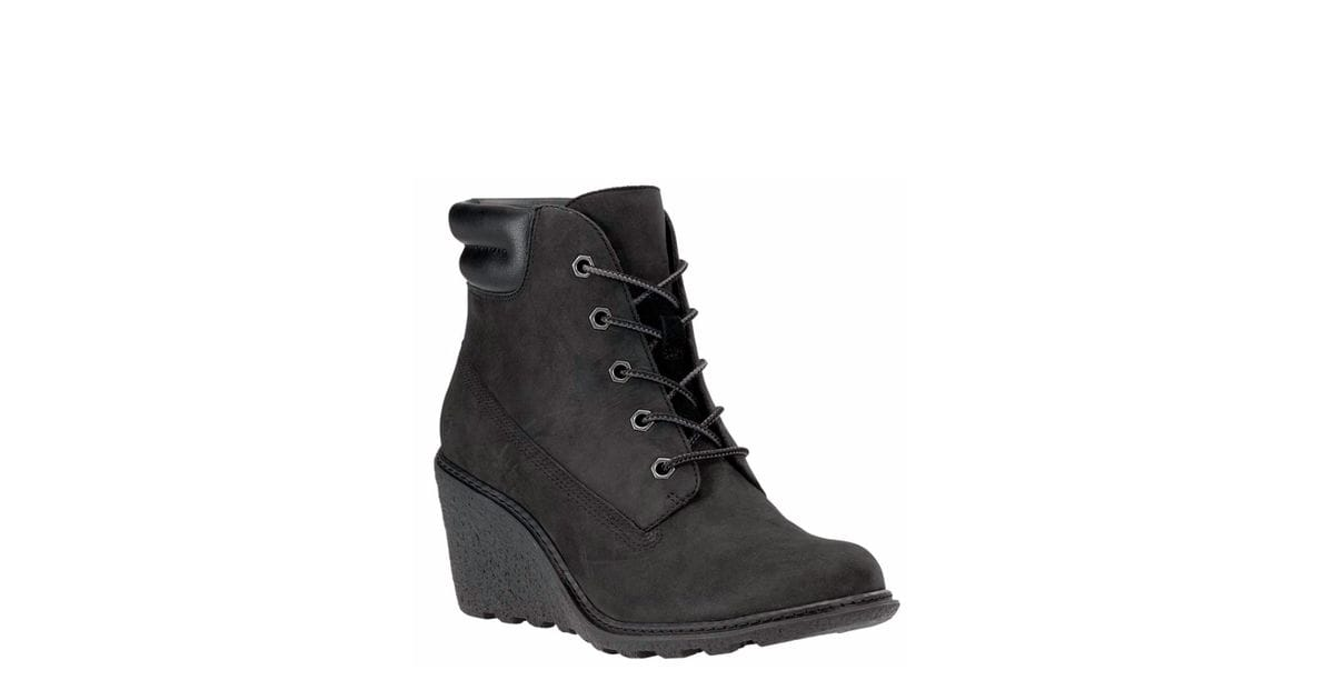 Timberland Women S Amston 6 Inch Boots In Black Vevey Shoes