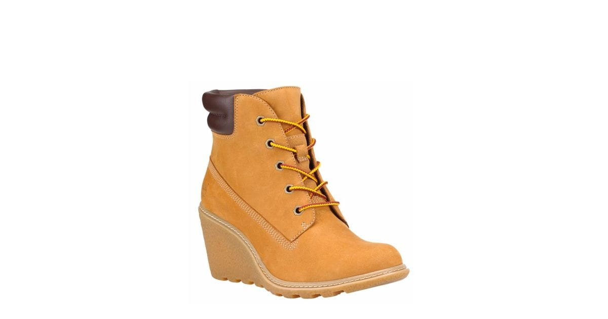 123c7fb7904e Timberland Women s Amston 6-inch Boots in Wheat Nubuck