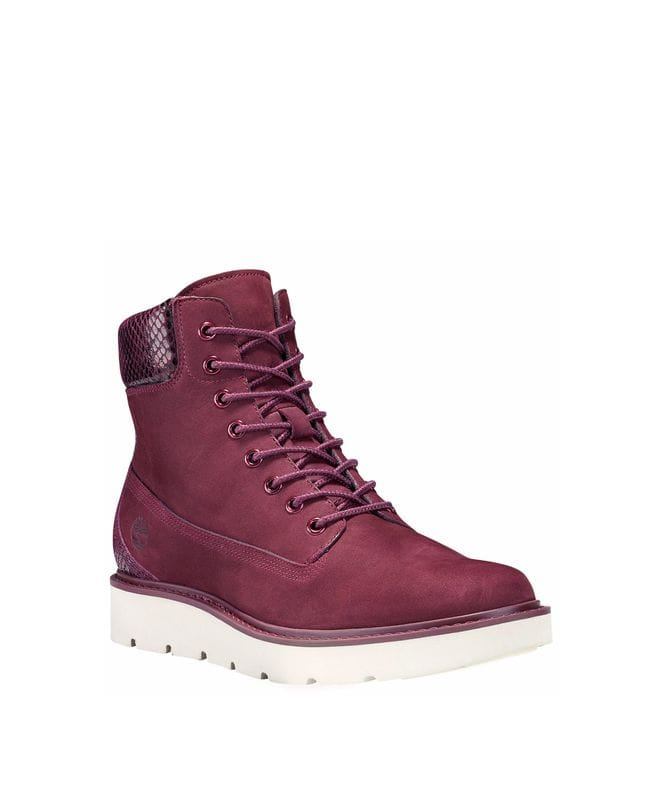 Timberland Women's Kenniston Lace-up Sneaker Boot in Burgundy