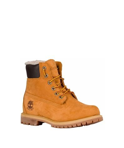 Timberland Women's 6-in Premium Lined WP Boots in Wheat Nubuck