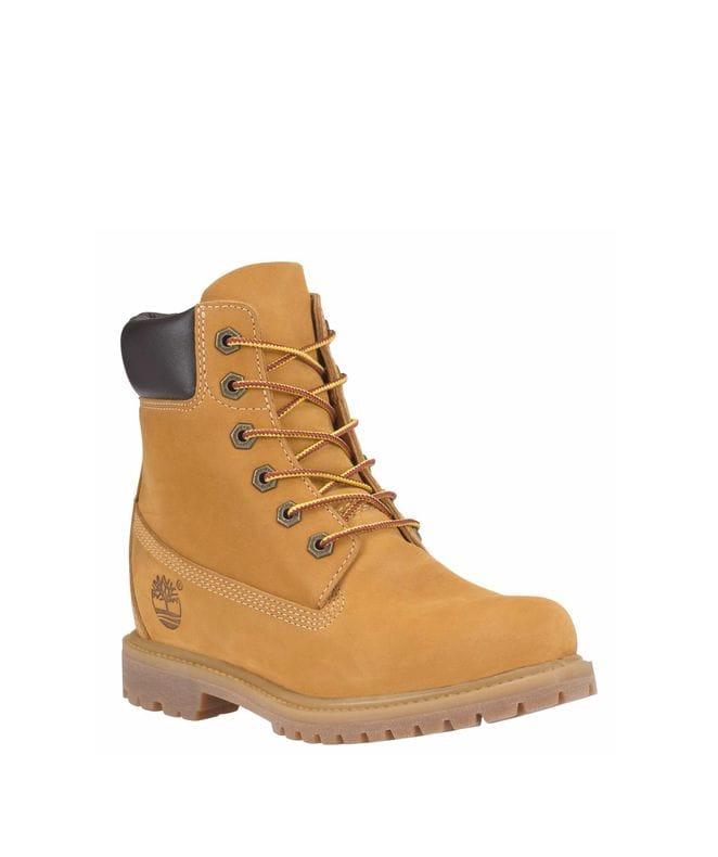 Timberland Women's 6-in Premium Waterproof Boot in Wheat Nubuck