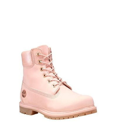 Timberland Women's 6-in Premium Waterproof Boot in Pink Nubuck