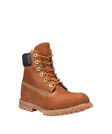 Timberland Women's 6-in Premium Waterproof Boot in Rust Nubuck