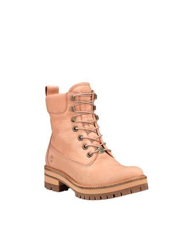 Timberland Women's Courmayeur Valley 6-inch Boots in Beige Nubuck