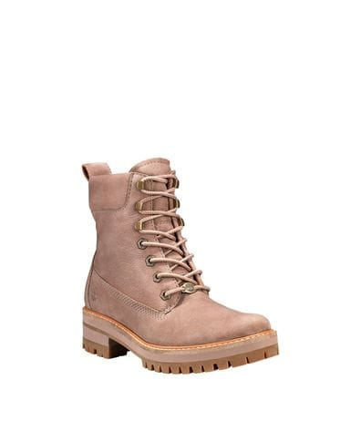 Timberland Women's Courmayeur Valley 6-inch Boots in Grey Nubuck
