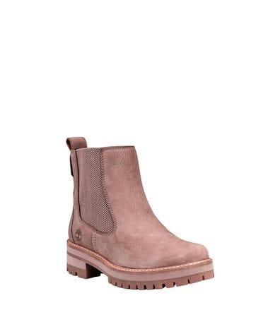 Timberland Women's Courmayeur Valley Chelsea Boots in Grey Nubuck