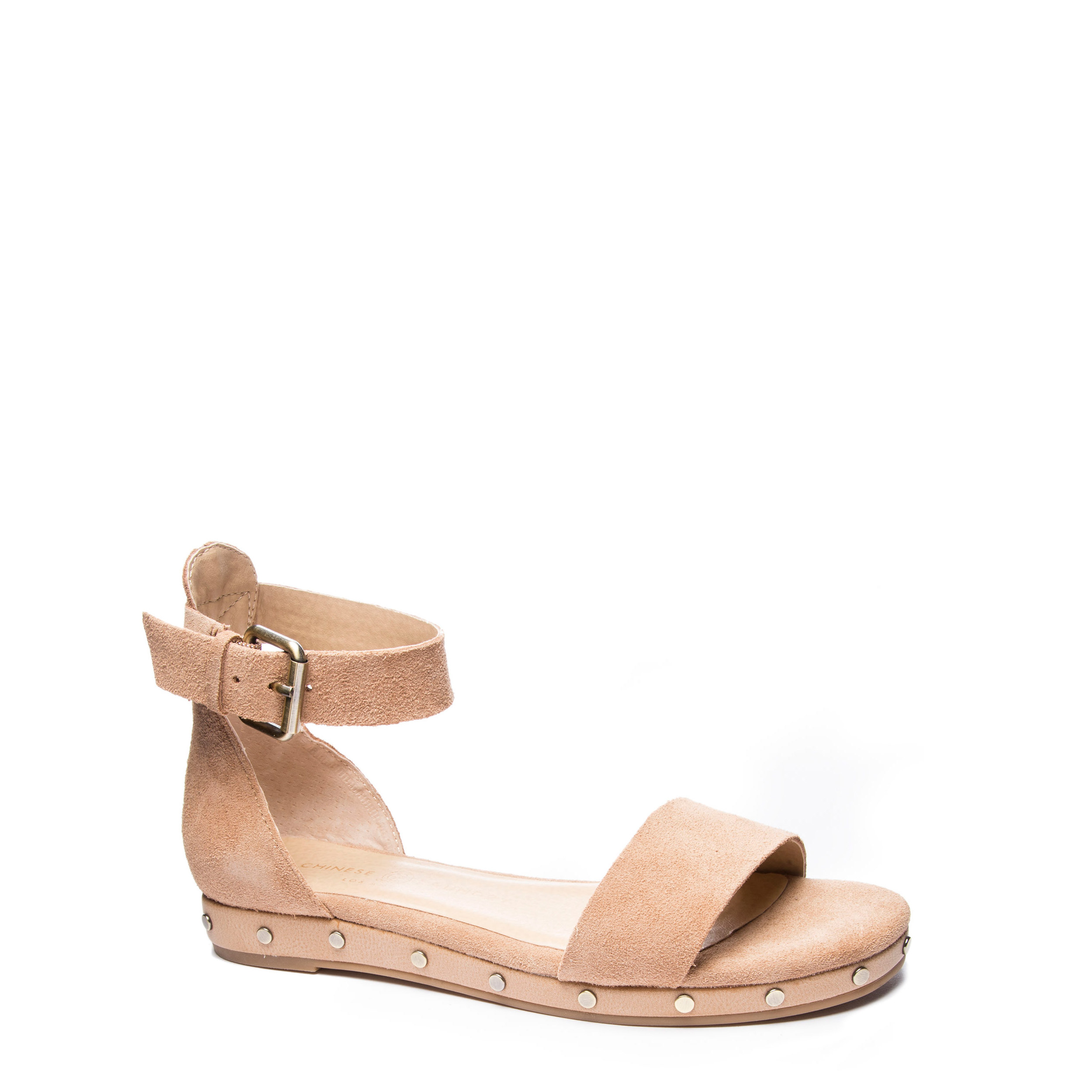 Chinese Laundry Women's Grady Split Suede Dress Sandal in Camel